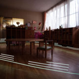Light painting reveals radiation levels at the Soramame nursery school in Fukushima city