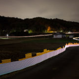 Light painting radiation in Onami, Fukushima