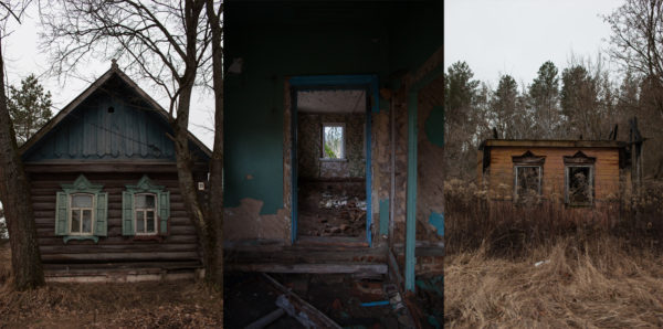 March 3, 2016 – Abandoned houses in a small village near Vyshkov (Вышков), Russia. 30 years after the 1986 Chernobyl nuclear disaster the area remains contaminated and in long-term decline. Greenpeace/Greg McNevin